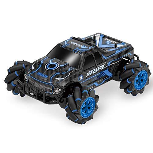 XIAOKUKU Coche RC Control Remoto inalámbrico, Todoterreno 360 ° Drift Control Remoto Juguete 4WD 2.4G Inducción de Gestos Coche de Carreras Todoterreno con luz y música,Azul