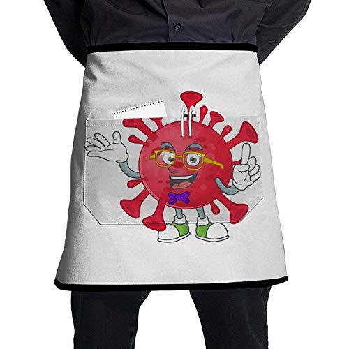 Coronavirus Amoeba Chef Waiter Apron Kitchen Cooking Restaurant Tavern Bartender Apron