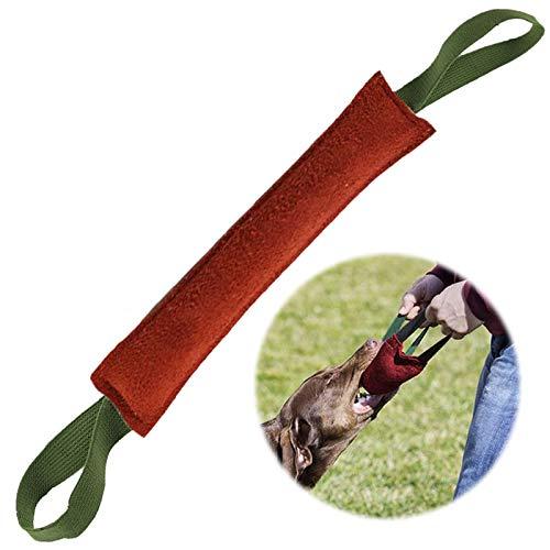 MAIYADUO Beisswurst für Hunde,40 cm,mit Zwei Schlaufen - Sehr Robustes Hundespielzeug zum Training, Tauziehen und Zerrspiele mit Hund, Hundebiss Schlepper Spielzeug Robustes Hundespielzeug