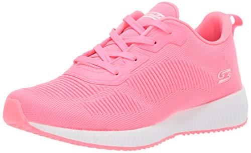 Skechers Damen Bobs Squad-Glow Rider Sneaker, neon pink, 38 EU