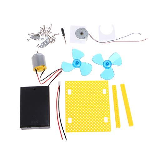 smallJUN Mini Kids Led DC AC Bildung Elektrischer Generator Motor Windkraftanlage Leistung Analoges Stromerzeugungssystem
