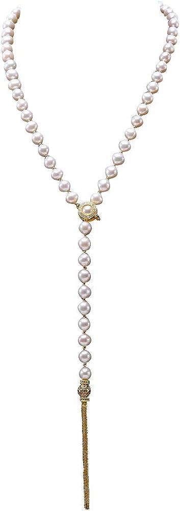 2020新作 JYX Sterling Silver 9mm Cultured Tasse Pearl Necklace Freshwater 店舗
