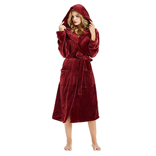 Pijamas de Terciopelo con Capucha para Mujer Bata Mujer