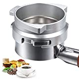 Alimtee 54mm Espresso Dosing Funnel, Hands-Free Aluminum Alloy Coffee Machine Powder Dosing Funnel Fits 54mm Breville Portafilter, Replacement Funnel Accessories for Home or Cafe Use (Sliver)