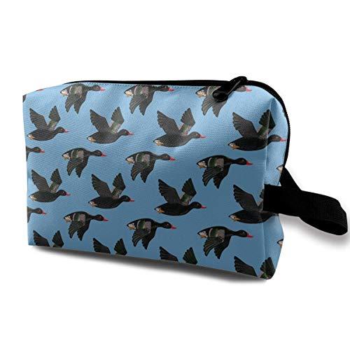 Flying Black Ducks Organisateur à la mode de sac de maquillage de voyage de sacs cosmétiques