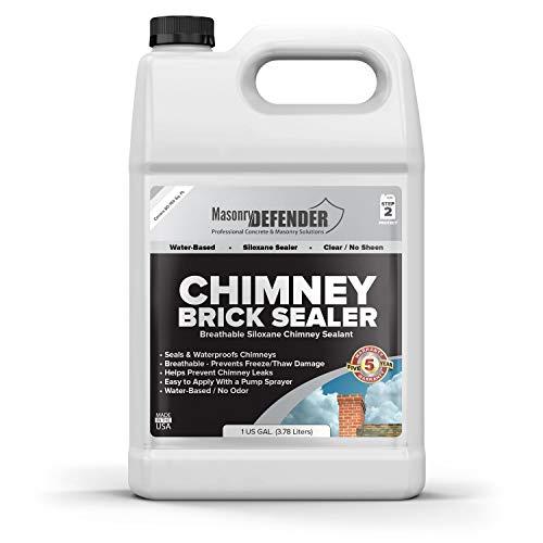 Chimney Brick Sealer, Clear Water-Based Siloxane...