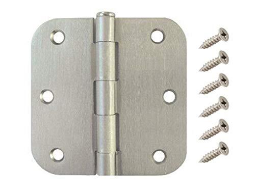 "(Pack of 30) W2Ent 3.5"" x 3.5"" Satin Nickel Door Hinges with 5/8"" Radius Corners Brushed Nickel"