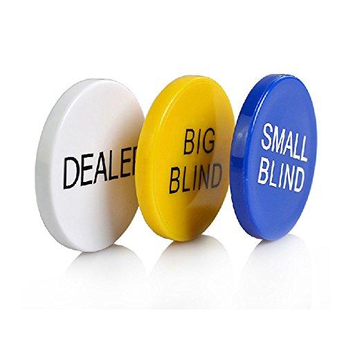 "SmartDealsPro Pokersteine, 3er-Set, Aufschrift ""Small Blind"", ""Big Blind"", ""Dealer"""