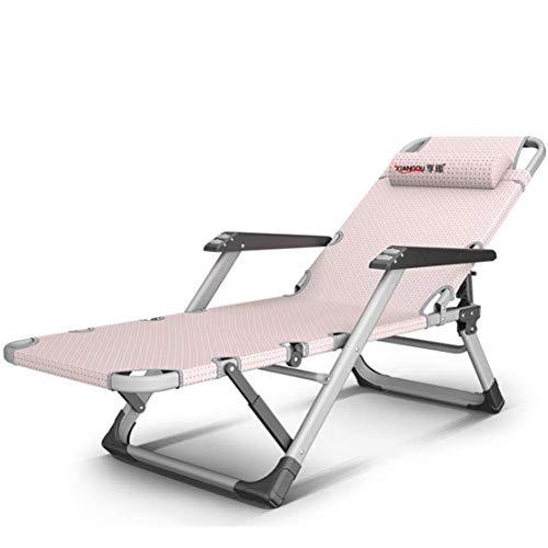 Ligstoelen Tuinstoelen, opvouwbaar en gestoffeerd, geschikt voor gebruik binnenshuis, stranden, terrassen, zwembaden.Lounge stoelen, tuin lounge stoelen, roze
