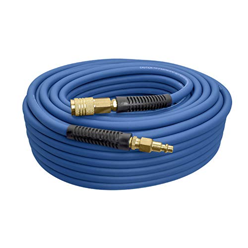 Estwing E14100PVCR 1/4' x 100' PVC/Rubber Hybrid Air Hose with Brass Fittings