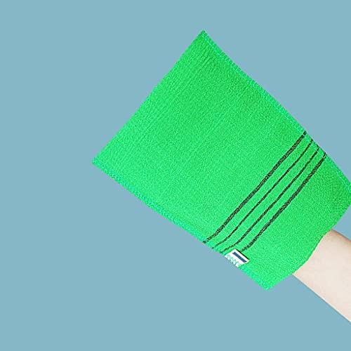 AGAN Badetuch Grobkorn Grün FlaMouth Einzelstück grober Sand Tuch 4pc Korean Italien Exfoliating Körper-Peeling-Handschuh