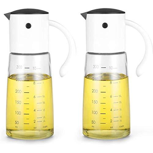SHYPT Botella de dispensador de Aceite for cocinar de Cocina: contenedor de condimento de Flip automático con Tapa automática y tapón 2