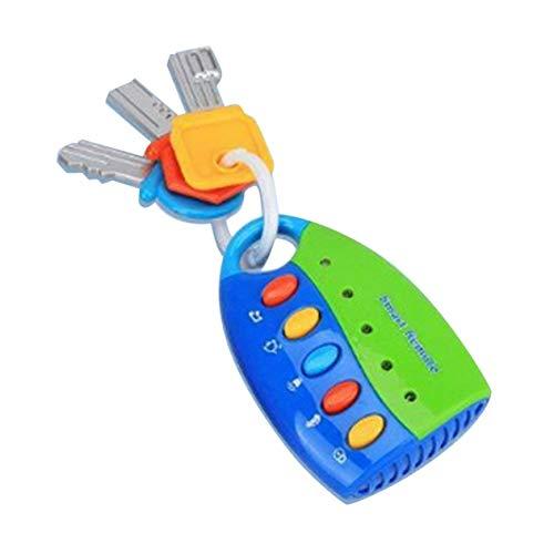 Puzzle Music Car Key Toy Coloré Flash Music Smart Remote Control Car Sounds Cartoon Baby Kids Toys (Green) -BCVBFGCXVB