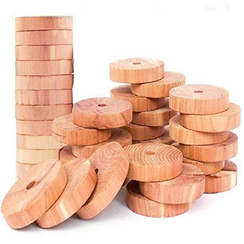 FANSIR 100% natürliches Zedernholz Mottenschutzmittel   Aromatic Moth Balls Cedar Blocks Kleiderschutz   Aufbewahrungszubehör Cedar Rings Kleiderschränke & Schubladen Lufterfrischer [30er Pack]