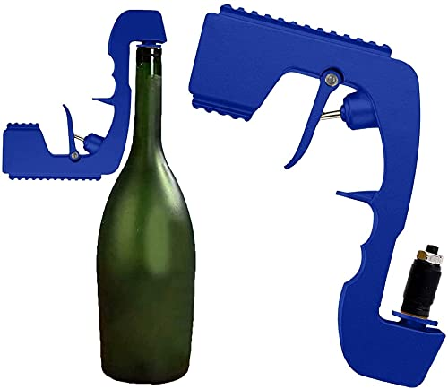 GDYJP Champagne Gun Shooter Wine Cerveza Pistola Pistola con Tope de Vino espumoso de burbujeante y collera, Jet de Cerveza embotellada para Fiesta, Club, Bar, Pub, cumpleaños, Boda, Festival