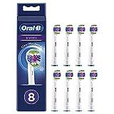 Oral-B 3D White Cabezales de Recambio Tamaño Buzón, Pack de 8 Recambios Originales con Tecnología CleanMaximiser para Cepillos de Dientes Eléctricos