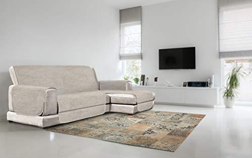 Italian Bed Linen Copridivano Antiscivolo Comfort con Penisola DX, Beige, 190 cm