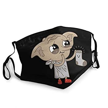 YOLO Unisex Protection Scarf Face Mask Ha-Rry Po-Tter Do-BBY is A Free Elf Reusable Breathable Dustproof Mouth Mask Black 7 One Size