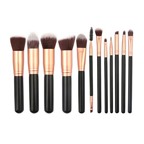 Maquillage Pinceau Set 12 Pcs Professionnels Poignée En Bois Mélange Fondation Lèvres Yeux Maquillage Outils