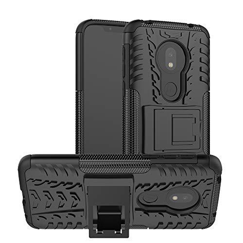 Wigento Für LG G8 ThinQ Hybrid Hülle 2teilig Outdoor Schwarz Tasche Cover Hülle Etuis Neu