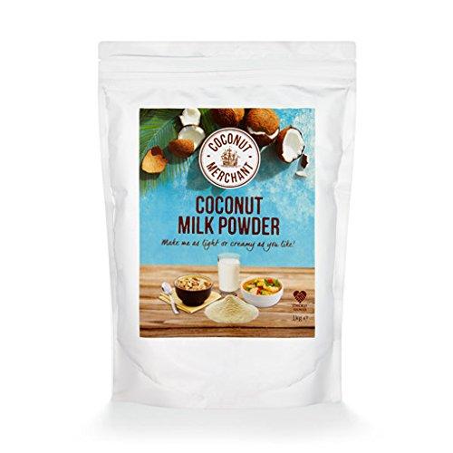 1kg Coconut Merchant Lait de coco en poudre Alternative au lait en poudre végétalien | pour currys, soupes, sauces, smoothies et boissons | Vegan | Source éthique | Buvez-le, ajoutez-le, remuez-le