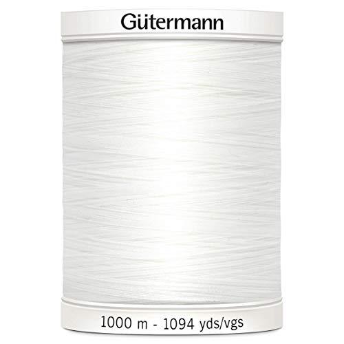 Gutermann–Cenefa, poliéster, Blanco, 1000m