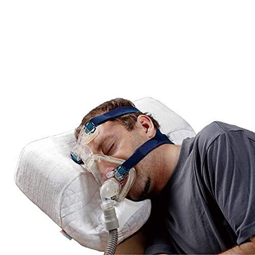JINTD Almohada para Dormir con Memoria para El Cuello, Almohada Ortopédica De Soporte Cervical De CPAP Portátil para Dormir con Cuello Lateral Alivio del Dolor De Cuello
