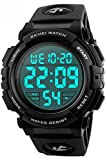 Men 's Large Face Digital Outdoor Sports Waterproof Watch LED Luminous Alarm Stopwatch