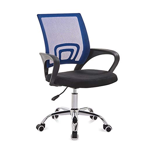 XXQ Desk Chairs, Office Chair Executive Ergonomic Adjustable Task Chair Comfy Padded Mesh Chair Office Gaming Chair,Blue blue chair gaming