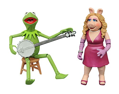 DIAMOND SELECT TOYS The Muppets Best of Series 1: Kermit & Miss Piggy Action Figure Two-Pack, Multicolor