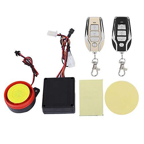 Sirena de alta potencia,Tangxi Sistema de alarma antirrobo 9-15V 500mA con motor de control remoto, ECU impermeable 105-125dB Alarma de seguridad para bicicletas eléctricas de 48V y 60V