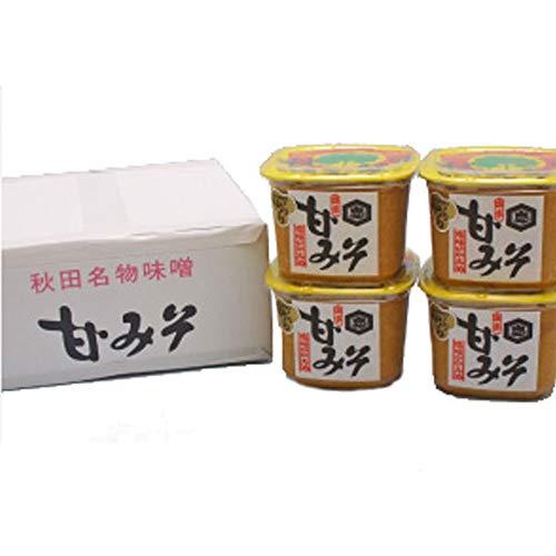 ふるさとの味を造り続けて100年 内藤醤油店 甘みそ 1kgカップ詰×4個入