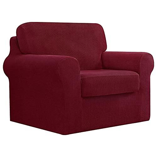 DRXX Housse de canapé Extensible, Housse de canapé 1 Place Lavable, Protecteur de canapé de Meubles en Tissu mélangé Spandex pour canapé en Forme de T, canapé en Tissu, canapé en Cuir