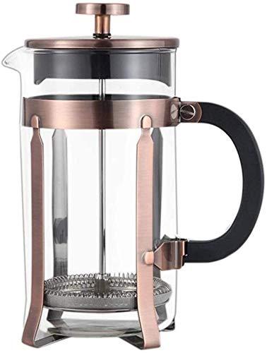 Cafetera doble francesa con filtro a presión. Olla a presión de vidrio de borosilicato. Liner francés. Cafetera Appliance Daguai (color: acero inoxidable, tamaño: 1000 ml).