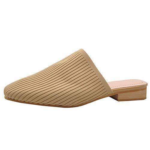 [エアバイ] ミュール サンダル ニット素材 楽ちん 動きやすい シューズ くつ ぺたんこ 靴 ペタンコ 夏 サマー なつ つっかけ スリッパ オシャレ おしゃれ お洒落 きれいめ かわいい かかと なし 歩きやすい あるきやすい ペタンコ 履きやすい 疲