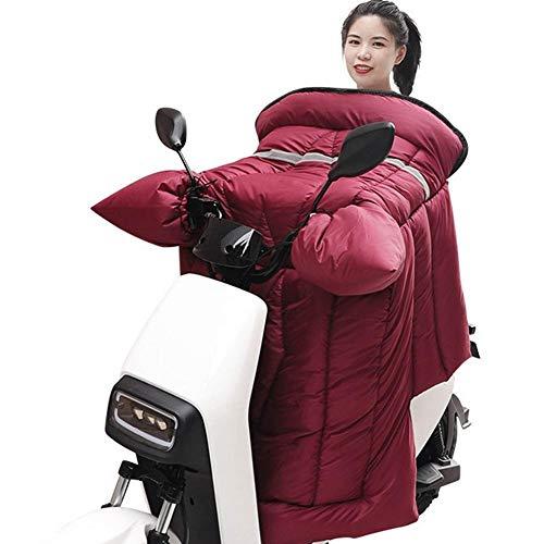 Cubierta de la Pierna del Scooter de Invierno Cálido Espesado Manta de la Rodilla Caliente A Prueba de Viento Pierna de la Pierna a Prueba de Agua a Prueba de Viento (Color : Rojo)