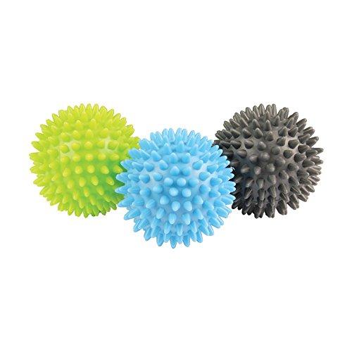 Fitness Mad Spikey Massage Ball Set Sfera Di Massaggio, Unisex – Adulto, Multicoloured, Taglia Unica