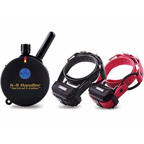 Educator K9-402 B33 Two Dog K9 Handler 3/4 Mile Remote Dog Training Collar, 33' Bungee Collar