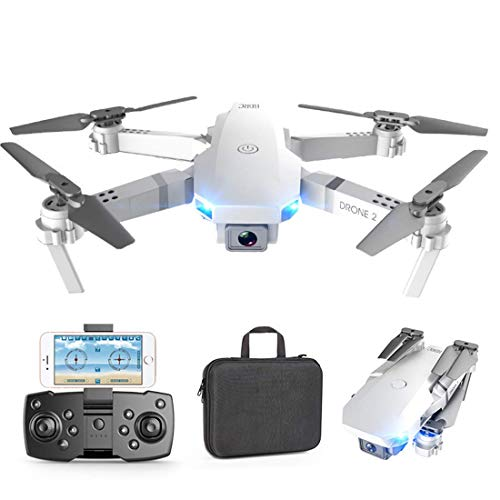 ZHCJH Drone, 4K Camera Bright Lights Folding Body Gesture Photos/Videos Height Maintenance Phone Application RC Longer Fighting Life, Best Gift for Photography Lovers