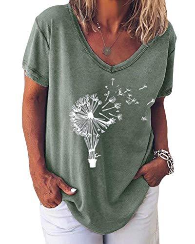 Minetom T-Shirt Femme à Manches Courtes Grande Taille Été...