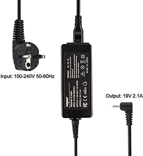 SUNYDEAL® Laptop Netzteil Ladegerät Ladekabel AC Adapter für Asus EEE PC 1005HA 1005PX 1005PE R11CX R101 R105 1001P 1018P VX6 110LF AD6630 EXA0901XH CX101H X101CH 1101HA 1016P SUPER10A SUPER10C