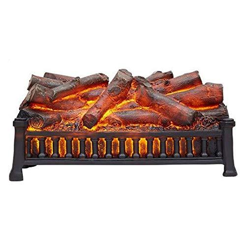 lqgpsx Chimenea Ornamental eléctrica Chimenea de carbón Desnudo sin calefacción Estufa de decoración LED con Llama ardiente simulada en 3D. Chimenea electrónica con Efecto carbón