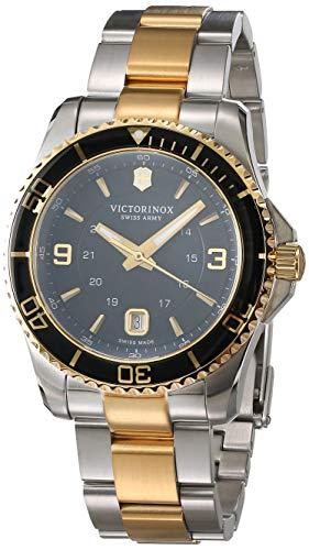 Victorinox Hombre Maverick - Reloj de Pulsera Dos Oro Plateado Grande 241824