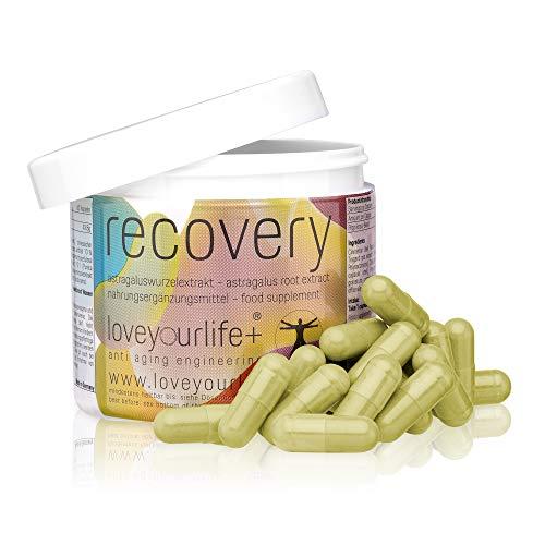 Loveyourlife+ Recovery, Anti-Aging Kapseln, Astragaluswurzel Extrakt 150mg, hochdosiert, vegan + laborgeprüft, 60 Kapseln (2 Monate)