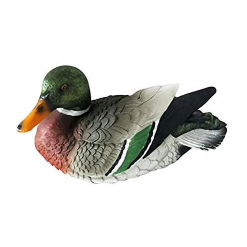 Nuryme Stockente Kunststoff Lockvogel Teichdeko Gartendeko Tierfigur Schwimmente Nachbildung Lockvogel für Teich und Garten