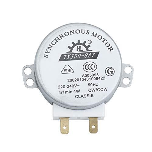 Foxnovo TYJ50-8A7 AC 220V-240V 4 umin 4W CWCCW Mikrowelle drehbar Synchronmotor