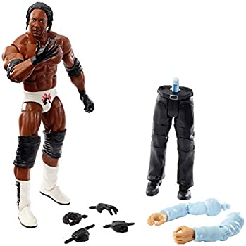 WWE Booker T Elite Collection Wrestlemania 19 Action Figure with Deluxe Articulation Life-Like Detail Authentic Ring Gear Swappable Hands & Accessory