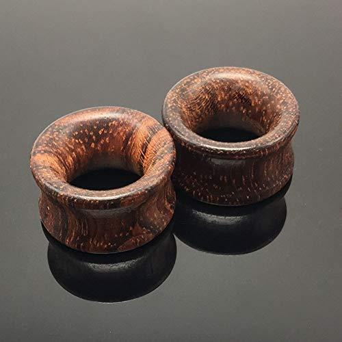 AllRing Set di 2 dilatatori in legno, set di dilatatori per orecchio