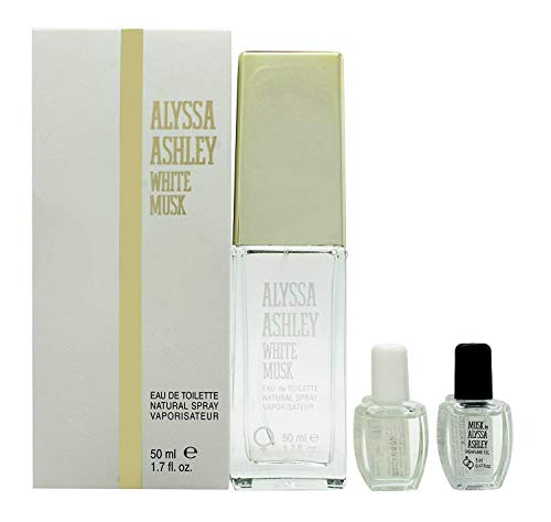 Alyssa Ashley White Musk Edt Spray, 50 ml más aceites, 5 ml,...