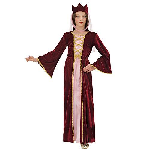 Widmann Sancto 12578 ? Enfants Costume de courtisane, Reine médiévale, Robe avec Un Chapeau en Taille 158 cm